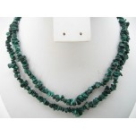 34-35 Inch Chip Necklace - Malachite