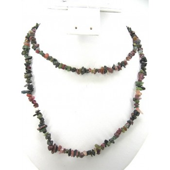 34-35  Inch Chip Necklace - Tourmaline