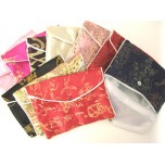 Brocade Pouch with Snap and Zip 11X16cm 10 piece pack