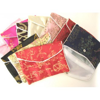 Brocade Pouch with Snap and Zip 11X16 10 piece pack