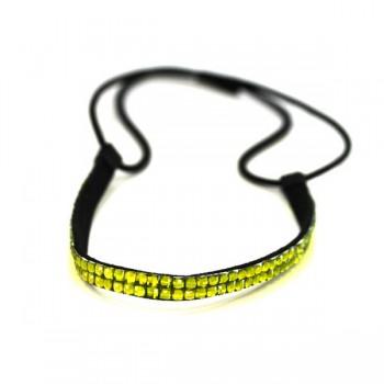 Double Row Headband - Lime Green