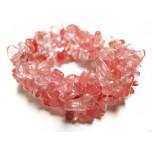 5 Strand Chip Bracelet - Cherry Quartz