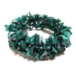 5 Strand Chip Bracelet - Malachite