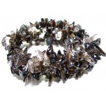 5 Strand Chip Bracelet - Smokey Quartz