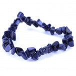 7 Inch Stretch Chip Bracelet - Blue Goldstone