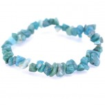 7 Inch Stretch Chip Bracelet - Amazonite