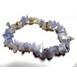 7 Inch Stretch Chip Bracelet - Blue Lace Agate