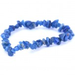 7 Inch Stretch Chip Bracelet - Apatite Blue