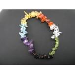 7 Inch Stretch Chip Bracelet - Chakra Translucent