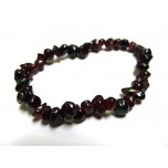 7 Inch Stretch Chip Bracelet - Garnet