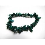 7 Inch Stretch Chip Bracelet - Malachite