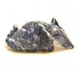 Armadillo 2.25 Inch Figurine - Sodalite