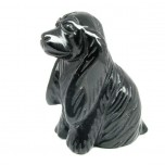 Dog (Cocker Spaniel) 2.25 Inch Figurine - Obsidian Black