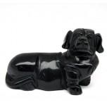 Dog (Dachshund) 2.25 Inch Figurine - Obsidian Black