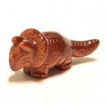 Dinosaur (Triceratops) 2.25 Inch Figurine - Goldstone