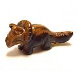 Dinosaur (Triceratops) 2.25 Inch Figurine - Tiger Eye