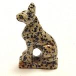 Egyptian Cat Bast 2.25 Inch Figurine - Dalmatian Dacite