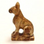 Egyptian Cat Bast 2.25 Inch Figurine - Picture Jasper