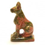 Egyptian Cat Bast 2.25 Inch Figurine - Unakite
