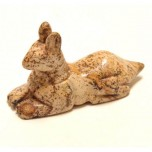 Egyptian Dog Anubis 2.25 Inch Figurine - Picture Jasper