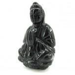 Kwin Yin 2.25 Inch Figurine - Obsidian Black