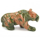 Panther 2.25 Inch Figurine - Unakite