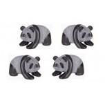 Panda Classic 2.25 Inch Figurine - Obsidian Black