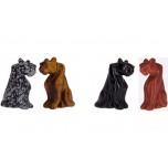 Panther Sitting 2.25 Inch Figurine - Dalmatian Dacite