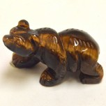 Bear Walking 1.5 Inch Figurine - Tiger Eye
