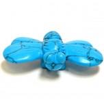 Bumble Bee 1.5 Inch Figurine - Howlite Turquoise