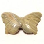 Butterfly 1.5 Inch Figurine - Silver Leaf Jasper