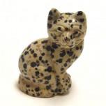 Cat Sitting 1.5 Inch Figurine - Dalmatian Dacite