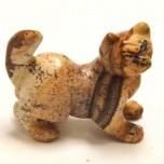 Cat Walking 1.5 Inch Figurine - Picture Jasper