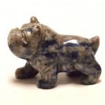 Dog (Bulldog) 1.5 Inch Figurine - Sodalite