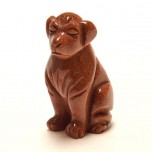 Dog Classic 1.5 Inch Figurine - Goldstone