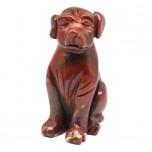Dog Classic 1.5 Inch Figurine - Rainbow Jasper