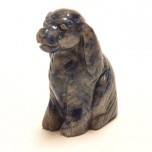 Dog (Cocker Spaniel) 1.5 Inch Figurine - Sodalite