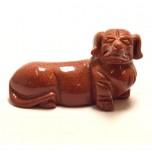 Dog (Dachshund) 1.5 Inch Figurine - Goldstone