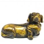 Dog (Dachshund) 1.5 Inch Figurine - Tiger Eye