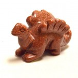 Dinosaur (Stegosaurus) 1.5 Inch Figurine - Goldstone