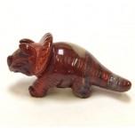 Dinosaur (Triceratops) 1.5 Inch Figurine - Rainbow Jasper