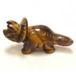 Dinosaur (Triceratops) 1.5 Inch Figurine - Tiger Eye