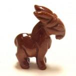 Donkey 1.5 Inch Figurine - Goldstone