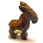 Donkey 1.5 Inch Figurine - Tiger Eye
