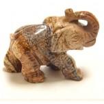Elephant Classic 1.5 Inch Figurine - Picture Jasper