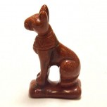 Egyptian Cat Bast 1.5 Inch Figurine - Goldstone