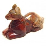 Egyptian Dog Anubis 1.5 Inch Figurine - Rainbow Jasper