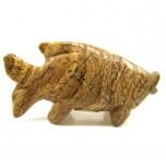 Fish Classic 1.5 Inch Figurine - Picture Jasper