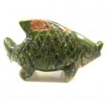 Fish Classic 1.5 Inch Figurine - Unakite