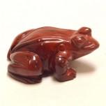 Frog Classic 1.5 Inch Figurine - Rainbow Jasper